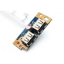 Плата портов для материнской платы Toshiba L500D Плата с двумя USB LS-4972P REV:1.0 б.у.