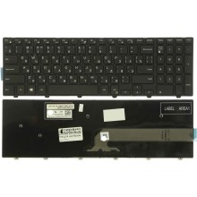 Клавиатура NFC для ноутбука Dell Inspiron 15 15-3000 15-4000 5542 5545 5547 5548 3541 3542 черная RU совместимая