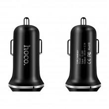 Автомобильная зарядка Hoco Z1 2 USB порта 5V 2.1A черная