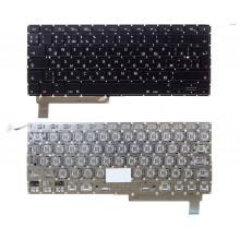 """Клавиатура NFC для ноутбука Apple MacBook Pro 15"""" A1286 с SD с подсветкой Г-образный Enter черная RU совместимая"""
