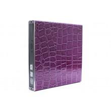 Внешний корпус USB BOX 2.0 3Q для DVD привода SATA ноутбука 12.7 мм бокс металл фиолетовый